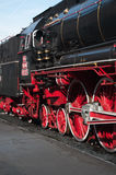 Steam Locomotive. Close-up of a steam locomotive in Romania Royalty Free Stock Photos
