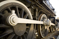 Steam locomotive. The wheels of an old Steam locomotive Royalty Free Stock Image