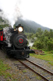 Steam Locomotive. Historical steam locomotive was used during Gold Rush Royalty Free Stock Photography