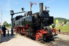 Steam Locomotive. Of the historic Sauschwänzle Bahn (Pigtail Railway Line, also called Wutach Valley Railway) from station Zoll-Haus Blumberg to station Weizen Stock Photo