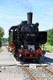 Steam Locomotive. Of the historic Sauschwänzle Bahn (Pigtail Railway Line, also called Wutach Valley Railway) from station Zoll-Haus Blumberg to station Weizen Royalty Free Stock Photo