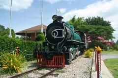 Steam locomotive. Old steam locomotive, at hua hin train station Stock Photo