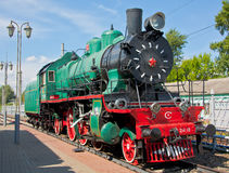 Steam Locomotive. At a railway station Stock Image