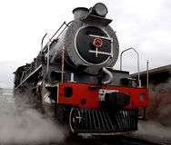 Steam Locomotive. A steam locomotive still in daily use in South Africa Stock Image