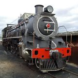 Steam Locomotive. A steam locomotive still in daily use in South Africa Stock Photo