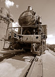Steam locomotive. The old Steam locomotive photo Stock Photo
