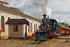 Steam Locomotive. A photo from a Steam Engine locomotive still on duty stock image