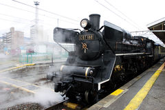 Steam Locomotive. At the station Royalty Free Stock Images
