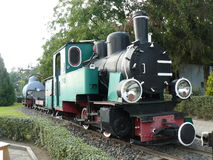 Steam Locomotive. A narrow gauge steam locomotive from a museum in Wenecja, Poland Stock Photography