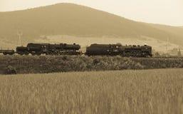 Steam locomotive. S (556.036) near Horna Stubna, Slovakia Royalty Free Stock Photo