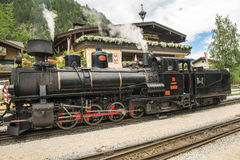 Steam locomotive in Austria - Zillertal-Bahn Stock Photo