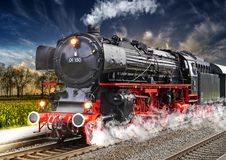 Steam locomotive Train in Germany royalty free illustration