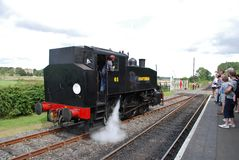 Steam locomotive, Bodiam Royalty Free Stock Photos