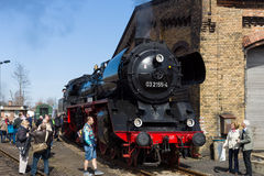 Steam locomotive Borsig 03 2155-4 (DRG Class 03) Royalty Free Stock Photo