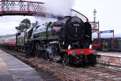 Steam locomotive Britannia at Kirkby Stephen Royalty Free Stock Images