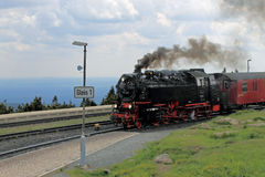 Steam locomotive on the Brocken Railway Stock Images