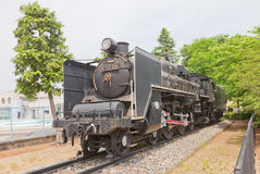 Steam locomotive C57 class N26 in Gyoda town, Japan Royalty Free Stock Image