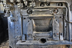 Steam locomotive cabin detail Stock Image