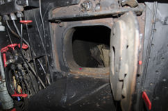 Steam locomotive cabin detail Stock Photos
