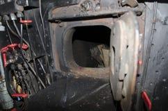 Steam locomotive cabin detail stock photos