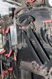 Steam locomotive cabin detail Stock Images