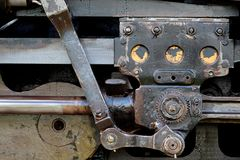 Steam locomotive coupling rods Stock Images