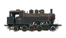 Steam locomotive cutout Stock Photo