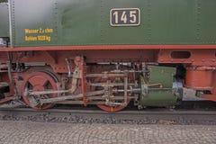 Steam locomotive detail with cranks Stock Photo