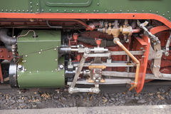 Steam locomotive detail with cranks Royalty Free Stock Photography