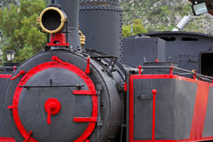 Steam locomotive. Detail of an old Steam locomotive wreck out of service royalty free stock photography