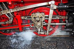 Steam Locomotive. Detail of the power transmission on steam locomotive Royalty Free Stock Image