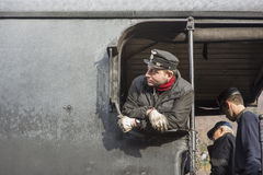 Steam Locomotive Driver Royalty Free Stock Photography