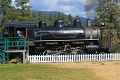 Steam Locomotive and Engineer Stock Photos