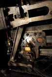 Steam locomotive engineering detail Stock Images