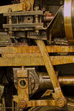 Steam locomotive engineering detail Royalty Free Stock Photos