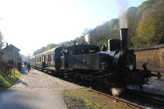Steam locomotive in Fond-de-Gras, Luxembourg Stock Photo