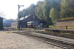 Steam locomotive in Fond-de-Gras, Luxembourg Stock Image