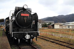 Steam locomotive at Former Taisha station Royalty Free Stock Photos