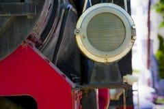 Steam locomotive fragment Royalty Free Stock Photos