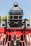 Steam locomotive front Royalty Free Stock Photo