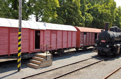 Steam Locomotive and Goods Waggon Stock Photos