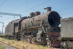 Steam Locomotive Grave Yard Royalty Free Stock Images