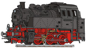 Steam locomotive. Hand drawing of a old steam locomotive Stock Image