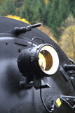 Steam locomotive headlight Royalty Free Stock Photos