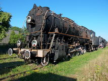 Steam locomotive. The historic steam locomotive American war Lima You 246-22 with the Museum of rolling stock in Zdunska Wola Karsznice. Only preserved in Stock Photography