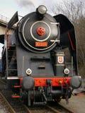 Steam locomotive. Historic steam locomotive in Prague Stock Photos