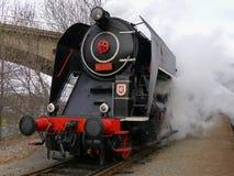 Steam locomotive. Historic steam locomotive in Prague Royalty Free Stock Image