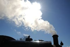 Steam Locomotive. Royalty Free Stock Photo