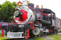 Steam locomotive II. Ancient steam locomotive, mexico city stock image
