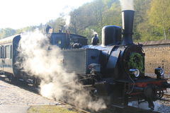 Steam Locomotive In Fond-de-Gras, Luxembourg Stock Photography